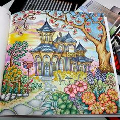 Romantic Country Coloring Book --> If you're in the market for the best coloring books and writing utensils including gel pens, colored pencils, watercolors and drawing markers, go to our website at http://ColoringToolkit.com. Color... Relax... Chill.