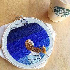 A little bit of progress this morning before work! . . . . . #yolishdesigns #abmcrafty #abmlifeiscolorful #ohwowyes #cylcollective #creativityfound #craftsposure #handembroidery #embroidery #skyfullofstars #embroideryinstaguild #imsomartha #embroiderydesign #threadpainting #ohhdeer #etsy #etsyshop #etsyseller #creativepreneur #dmcthreads #makeitwithmichaels #ohwowyes #coldplay #apartmenttherapy #livecolorfully #stitchersofinstagram #craftsfeed #etsyhunter #handmadecurator #bordadoamano