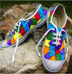 An ode to the spunky through hand painted canvas shoes