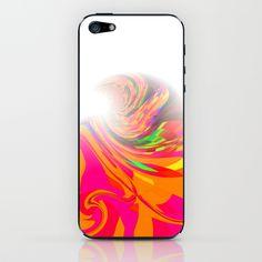 Re-Created  Tsunami FIVE iPhone & iPod Skin by Robert S. Lee - $15.00