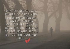 what defines you as a runner