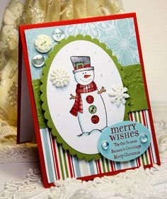 Love the snowman, layout and designer paper