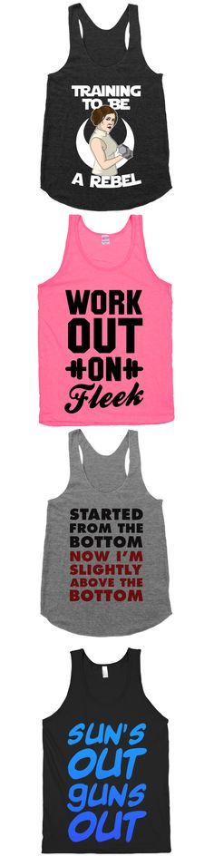 Look good while you workout with these tanks.