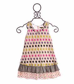 Little Mass Girls Spring Dress Sparkling Dots