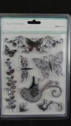 Kaisercraft Flora and Fauna Clear Acrylic Stamp Set CS707 Scrapbook Card Craft