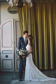 Obsessing over this mustard-colored velvet curtain   Image by Loreto Caceres Photography