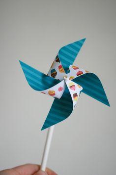Paper Pinwheels 12 Mini Pinwheels The Sweet Life by aubabi78, $13.20