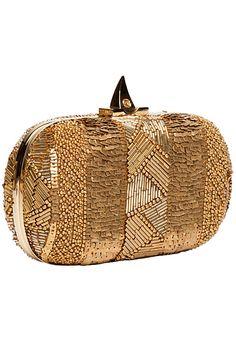 Elie Saab - Resort Accessories - 2013 v Beaded Purses, Beaded Bags, Beaded Clutch, Elie Saab, Gold Fashion, 1930s Fashion, Fashion Vintage, Victorian Fashion, Fashion Fashion