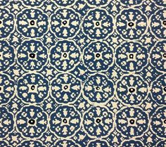 China Seas Wallpaper: Nitik II - Custom Blue / Flores Blue on White Vinyl