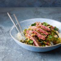 Asian steak & peanut  stir-fry