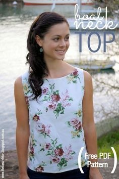 Free Boat Neck Top Pattern Tutorial Size M