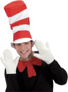 Dr. Seuss The Cat in the Hat Movie - The Cat in the Hat Mitts (Adult) from Buycostumes.com