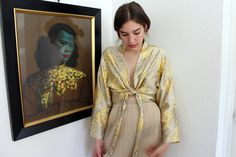 Moses Gauntlett Cheng - Floral Cropped Robe