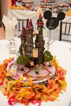 You Have to See This Wedding's Insanely Detailed Centerpieces Based on Disney Movies