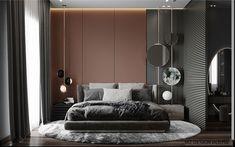 Best Luxury Home Decor Master bedroom on Behance.Best Luxury Home Decor Master bedroom on Behance Men's Bedroom Design, Master Bedroom Interior, Modern Master Bedroom, Contemporary Bedroom, Home Bedroom, Design Room, Design Design, Bedroom Decor, Design Ideas