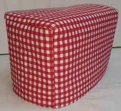 Red & White Checked 2 or 4 Slice Toaster by PennysNeedfulThings