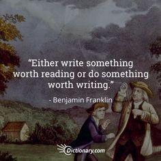 Quotable – Benjamin Franklin