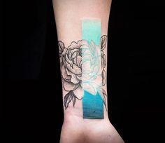 Rose tattoo by Chris Rigoni