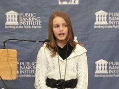 Victoria Grant, 12 anos e um discurso de impacto contra os bancos privados