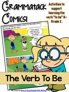 - A comical story using the the verb 'to be'. - Practice conjugating the verb to be (worksheet pages). - Create your own comic 'pop up' foldable. A center activity. - Story sequencing - re-arrange the comic in order. - To Be A Race - verb conjugation - a board game. $ Sea of Knowledge