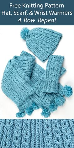 Hat, Scarf, and Mitt Sets Knitting Patterns - In the Loop Knitting Mens Scarf Knitting Pattern, Cable Knitting Patterns, Knitting Yarn, Free Knitting, Baby Knitting, Crochet Patterns, Baby Sweater Patterns, Aran Weight Yarn, Cable Needle