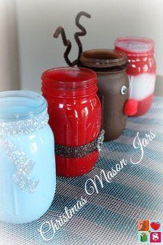Christmas in July from Having Fun Saving and Cooking.  Make Santa Mason Jars + More Holiday Jar Tutorials.  Make these NOW for Christmas gifts!