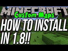 How To Install Custom Maps In Minecraft 1.8 - http://dancedancenow.com/minecraft-lan-server/how-to-install-custom-maps-in-minecraft-1-8/