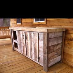Pallet Kitchen Cabinets Reclaimed Kitchen Cabinets Pallets Used To Reface The Cabinet Doors