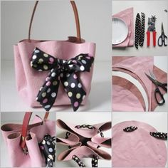 How to Make No Sew Handbag Tutorial #diy, #nosew, #handbag