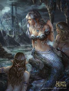 Want to discover art related to mermaid? Check out inspiring examples of mermaid artwork on DeviantArt, and get inspired by our community of talented artists. Mermaid Artwork, Mermaid Drawings, Fantasy Mermaids, Mermaids And Mermen, Fantasy Art Women, Fantasy Girl, Image Beautiful, Mermaid Pictures, Vampire