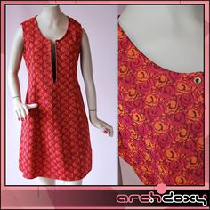 Vintage 1960s MOD Tapestry Pinafore Lace Up Red 'A' Line Tunic SKA Dress #mod #retro  http://www.ebay.co.uk/itm/Vintage-1960s-MOD-Tapestry-Pinafore-Lace-Up-Red-A-Line-Tunic-SKA-Dress-10-12-/282004928535