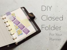 DIY Closed Folder For Your Planner