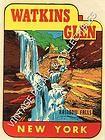 Vintage travel sticker of Watkins Glen, NY