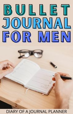 Bullet journaling isn't just for women! Check out our ultimate guide to bullet journal for men here! #bulletjournal #formen Bullet Journal For Men, Bullet Journal For Beginners, Bullet Journal Inspiration, Agenda Organization, Bullet Journal Printables, Good Advice, Printable Planner, Helpful Hints, Journaling