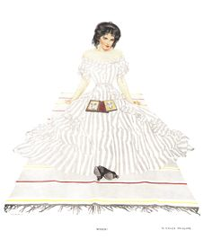 """Coles Phillips - """"Which?"""" From """"A Gallery of Girls"""" (1911)"""