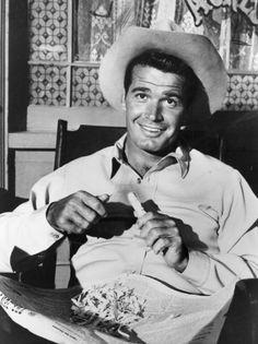 James Garner as Bret Maverick in a scene from `Maverick' in 1962.