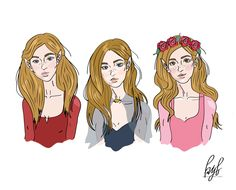 "acourtofstarsanddreams: ""okay, so here's a quick rendering of the archeron sisters I've been working on! (nesta, feyre, elain if you couldn't tell). for some reason I just can't get nesta how I pictured her, but not bad for 30 mins! -kyl """