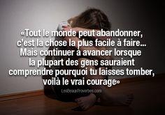 Courage. En français