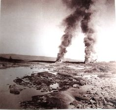 Farms burning courtesy of the British scorched earth policy. Destroying the Boer's homes, starving their women and children in concentration camps in an attempt to break their resolve