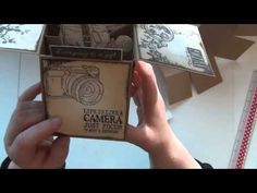 POP-UP BOX CARD - 3D BOX CARD with VILDA STAMPS - YouTube