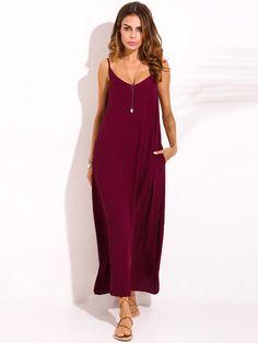 cd09fe8be8f Women Boho Sexy Strap Backless V Neck Maxi Sundress at Banggood Plus Size  Maxi Dresses