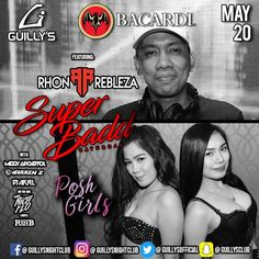 This is SUPERBADD SATURDAY at Guilly's Night Club! Feat. DJ Warren Z., DJ Miggy Apostol, DJ Rhon Rebleza and DJ Ariel! Together with MC Rich Flo on the MIC, Magic Robert on lights and Posh Girls! See you There! Top 40's / EDM / Trap / Hiphop & RnB all night! For Reservations: Please call 0915-1212569 #no1clubupnorth #wheninmanila #guillysnightclub #Trifecta #VSD #poshgirls #hup #urbnrev #teamlaban