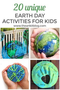 Fun Earth Day activities for kids! #earthday #earthdayactivities #earthdayactivitiesforkids via @theartkit