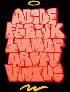 - Alphabet - - Art World Graffiti Alphabet Styles, Graffiti Lettering Alphabet, Graffiti Text, Graffiti Doodles, Graffiti Pictures, Graffiti Writing, Tattoo Lettering Fonts, Graffiti Characters, Graffiti Murals