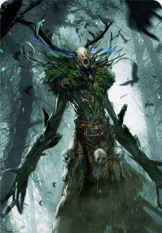 The Witcher Gwent Card Art Fantasy Forest, Dark Fantasy Art, Dark Art, Witcher Art, The Witcher 3, Der Wendigo, Witcher Monsters, Witcher Tattoo, Witcher Wallpaper