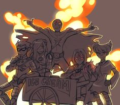 Robin, Terra, Red-X, Raven, and Jinx. Can I just say how much I love this picture?