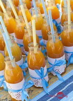 children's juice - baby boy party