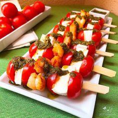 Canelones de berenjena - YANOESTOYGORDA by netastyle Mozzarella, Food Design, Fruit Salad, Keto, Tapas, Meals With Vegetables, Skewers, Vegetarian Recipes, Ground Meat