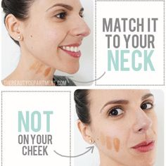 Technique Thursday! It is more important to match the foundation to the color of your neck. If your face is darker/lighter than your neck and your foundation matches the face, it will create an illusion of looking like a mask.  👉 makeupaddictstash.com 👈  #makeup on #fleek #try #love #younique #beauty #lashes #falsies #mommy #mua #ladies #blogger #youniqueproducts #lashcrack #makeupaddict #stash #technique #thursday #foundation #coverup #neck #not #cheek #tips