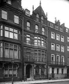 An exterior view of number 11 Harley Street.1903  The Bedford Lemere daybook records that the architect of this building was Alex Payne, which refers to Alexander Payne. Payne also commissioned the photograph to be taken.Reproduced by permission of English Heritage.NMR Reference Number: BL17499